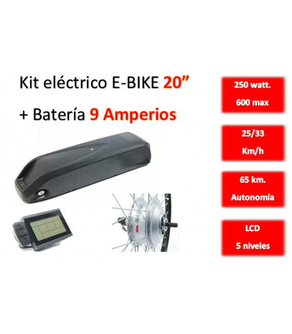 KIT ELECTRICO CONVERSION E-BIKE 250W