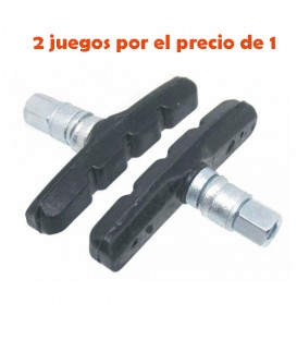 ZAPATAS JL V-BRAKE 60MM C/TUERCA (4PCS)