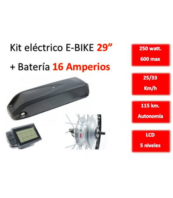 KIT ELECTRICO CONVERSION E-BIKE 250W