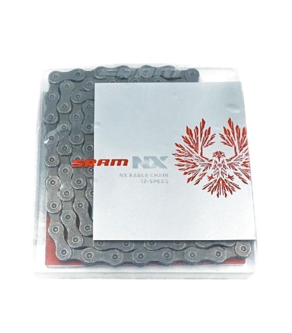CADENA SRAM NX EAGLE GREY 12V