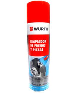 DESENGRASANTE WURTH LIMPIADOR FRENOS PLUS, 500ml