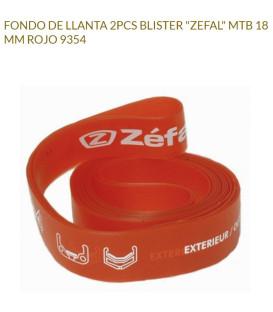 FONDO LLANTA ZEFAL 18MM ROJO RUEDA 26 (2UDS)