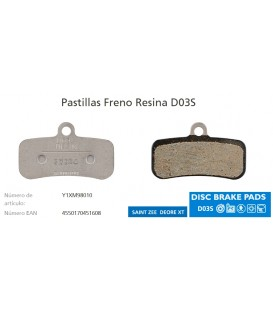 PASTILLAS SHIMANO DISCO M8120/7120/M640/MT520 D03S RESIN