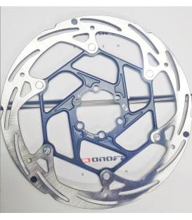 DISCO ONOFF 2 PIEZAS INOX/CNC 7075 160MM GRIS